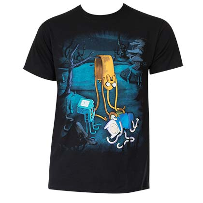Men's Cotton Adventure Time Melting Tee Shirt