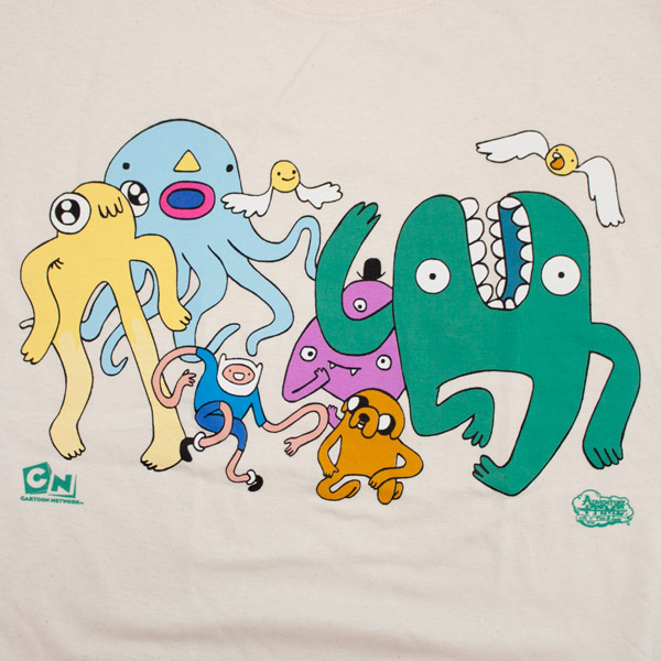 Adventure Time Dancing with Monsters Shirt Ivory