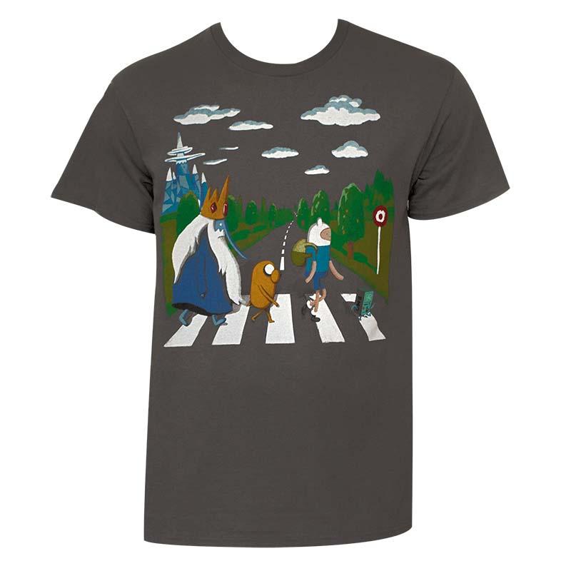Adventure Time Beatles Abbey Road Mens T Shirt