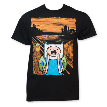 Adventure Time Men's Black Screaming T-Shirt