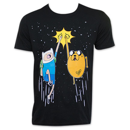 Adventure Time Jake And Finn Fist Bump T-Shirt