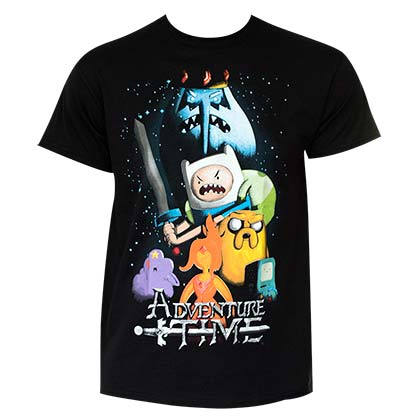 Men's Cotton Adventure Time Cartoon T-Shirt