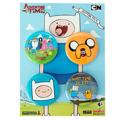 Adventure Time Button Set