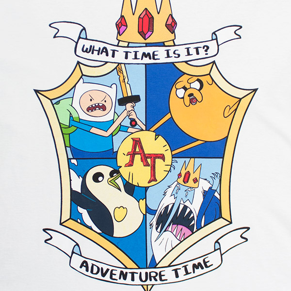Adventure Time What Time Is It? Crest Shirt