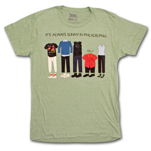 It S Always Sunny In Philadelphia Outfits Green Heather Graphic Tee