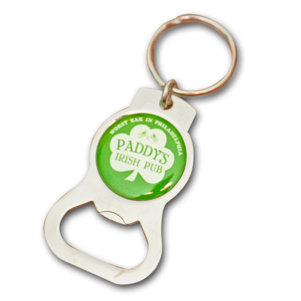 paddy 39 s pub always sunny bottle opener key chain. Black Bedroom Furniture Sets. Home Design Ideas