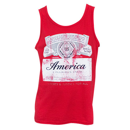 Budweiser Men's Red America Tank Top