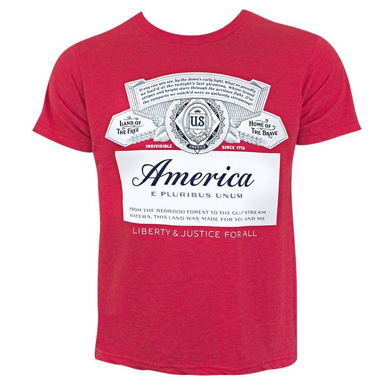 Budweiser Men's Red America T-Shirt