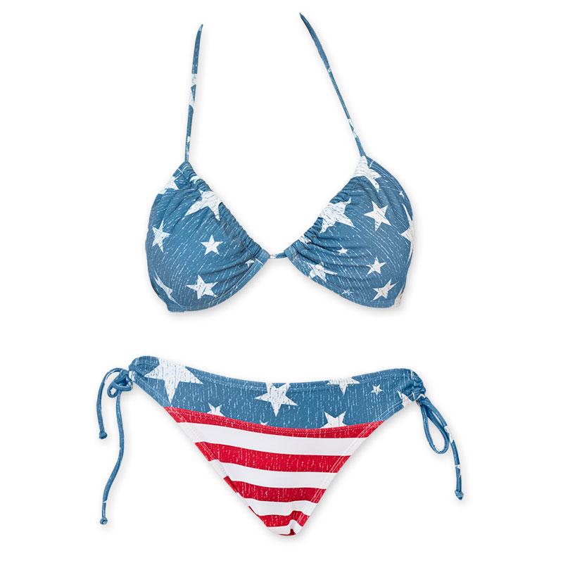 Stars And Stripes Women's American Flag Bikini