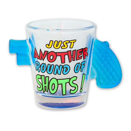 Just Another Round Of Shots Revolver Shot Glass