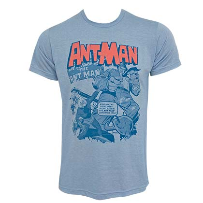 Ant-Man Pets Stop Him Men's Blue T-Shirt