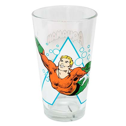 Aquaman Comic Pint Glass