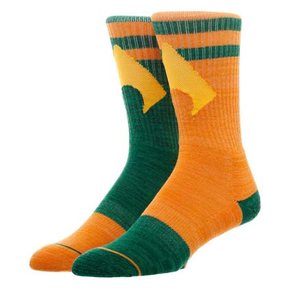Aquaman DC Comics Flipped Colors Men's Crew Socks