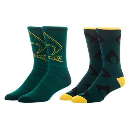Aquaman Green Men's Crew Socks 2 Pack