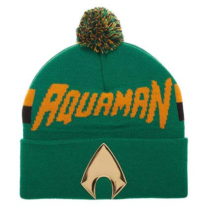 Aquaman Logo Winter Pom Beanie