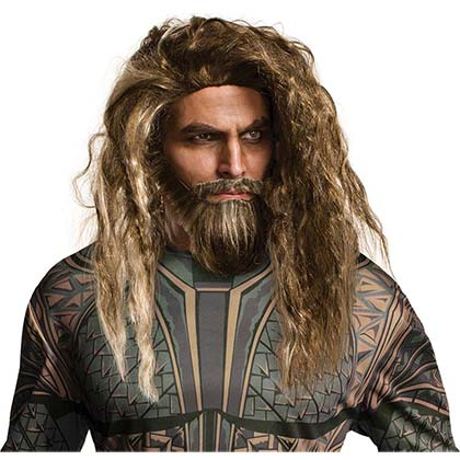 Aquaman Beard And Wig Costume