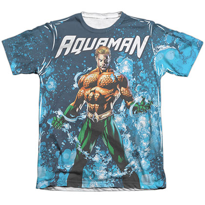 Aquaman Bubbles Sublimation T-Shirt