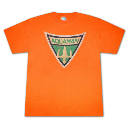 Aquaman Symbol Orange T Shirt