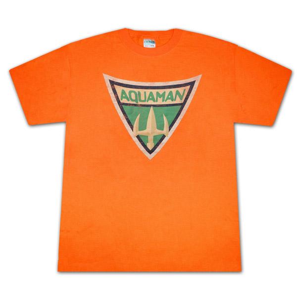 Aquaman Symbol T Shirt Orange Superheroden