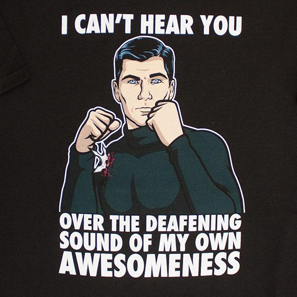 Men's Archer I Can't Hear You Black T-Shirt