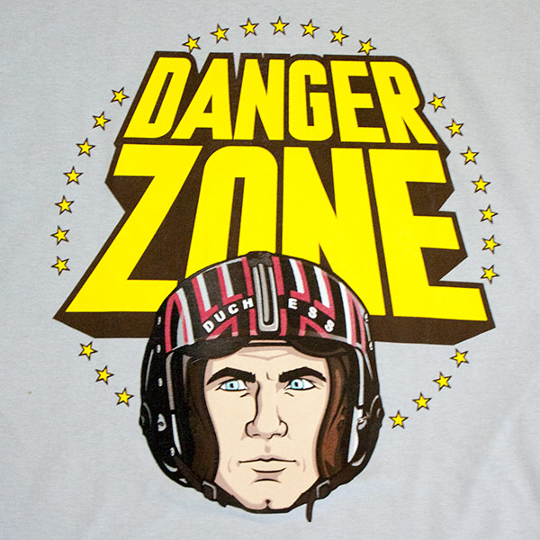 Gray Archer Danger Zone Helmet Tee Shirt