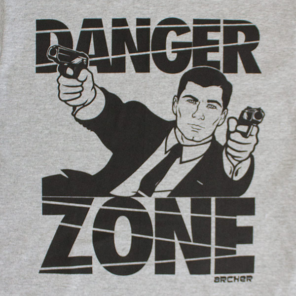Men's Black And Gray Danger Zone Archer T-Shirt
