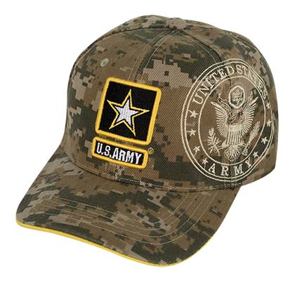 Army Strong Curved Bill Camo Hat