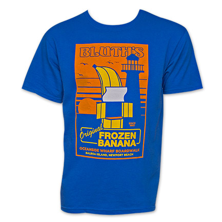 Arrested Development Bluth Banana Stand Tee - Blue