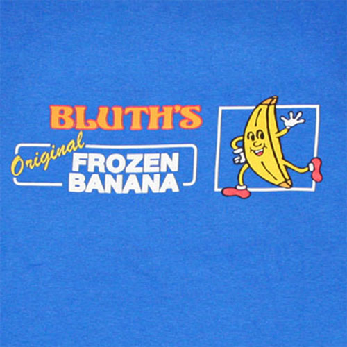 Arrested Development Banana Royal Blue Tee  Shirt