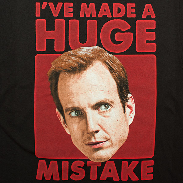 Arrested Development Gob Made a Huge Mistake Tee - Black