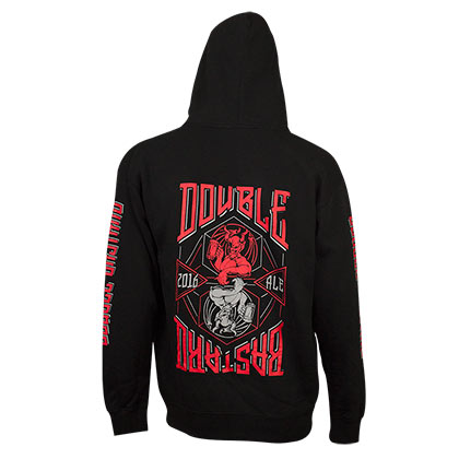 Arrogant Bastard Double Bastard Zip Up Black Hoodie