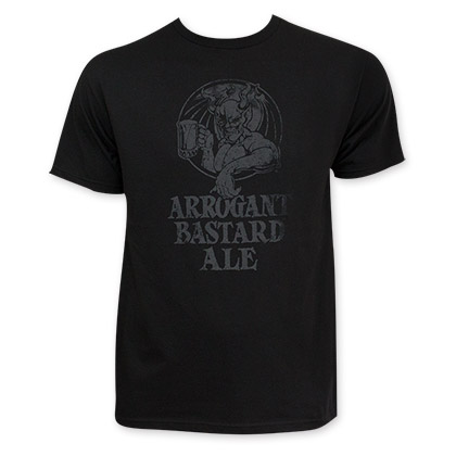 Stone Arrogant Bastard Ale Black On Black T-Shirt