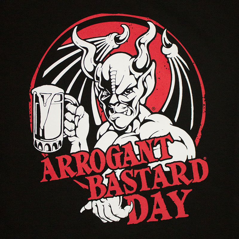 Arrogant Bastard Day Cheers For Me Black Tee Shirt