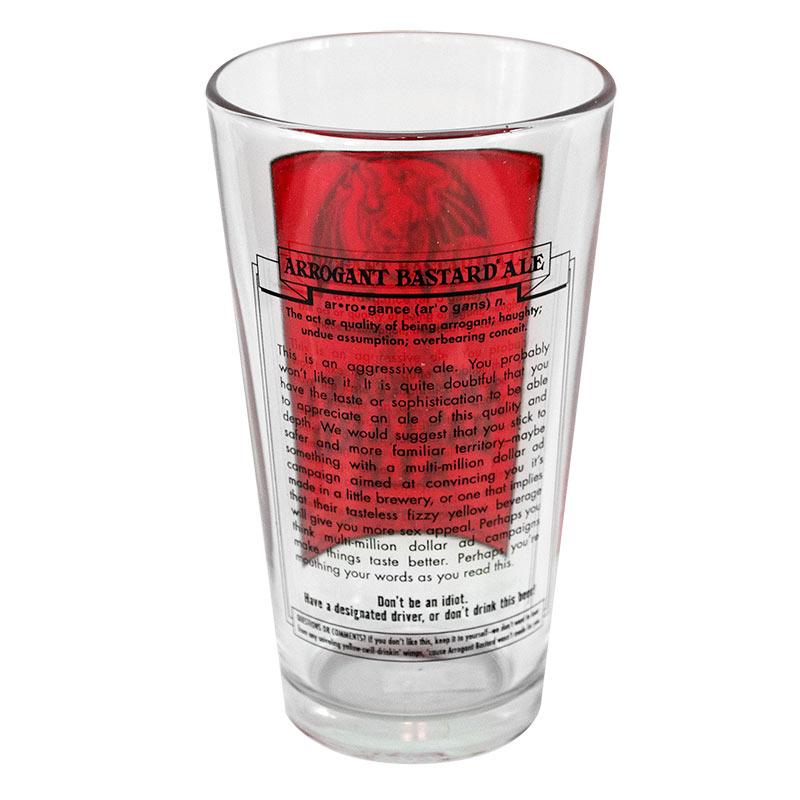 Arrogant Bastard Ale Story Pint Glass