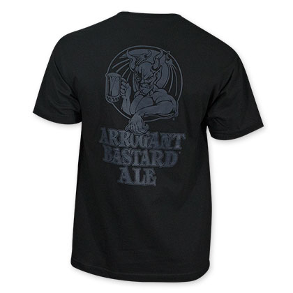 Arrogant Bastard Men's Blacked Out Tee Shirt