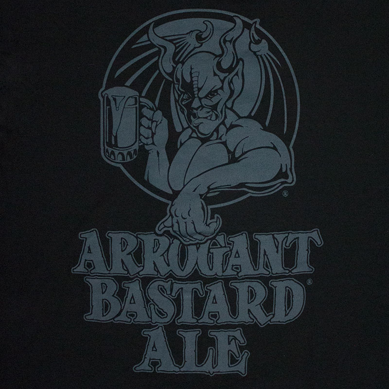 Arrogant Bastard Men's Blacked Out Tee Shirt