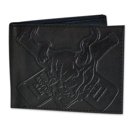 Arrogant Bastard Black Leather Devil Wallet