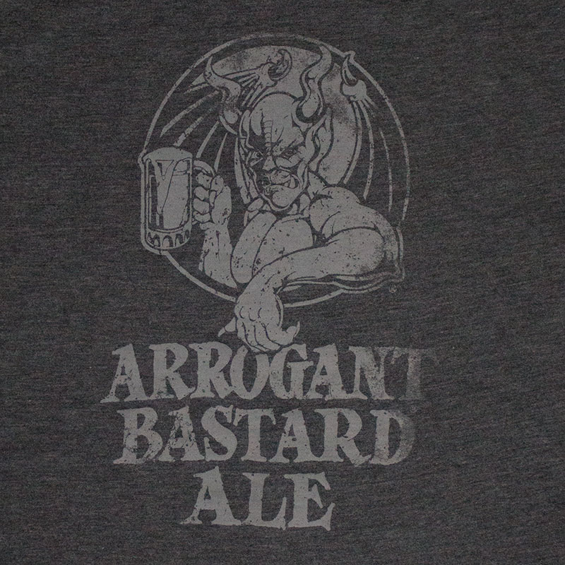 Arrogant Bastard Men's Grey Ale Tee Shirt