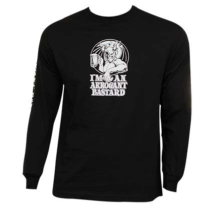 Arrogant Bastard Ale Long Sleeve Black Graphic T Shirt