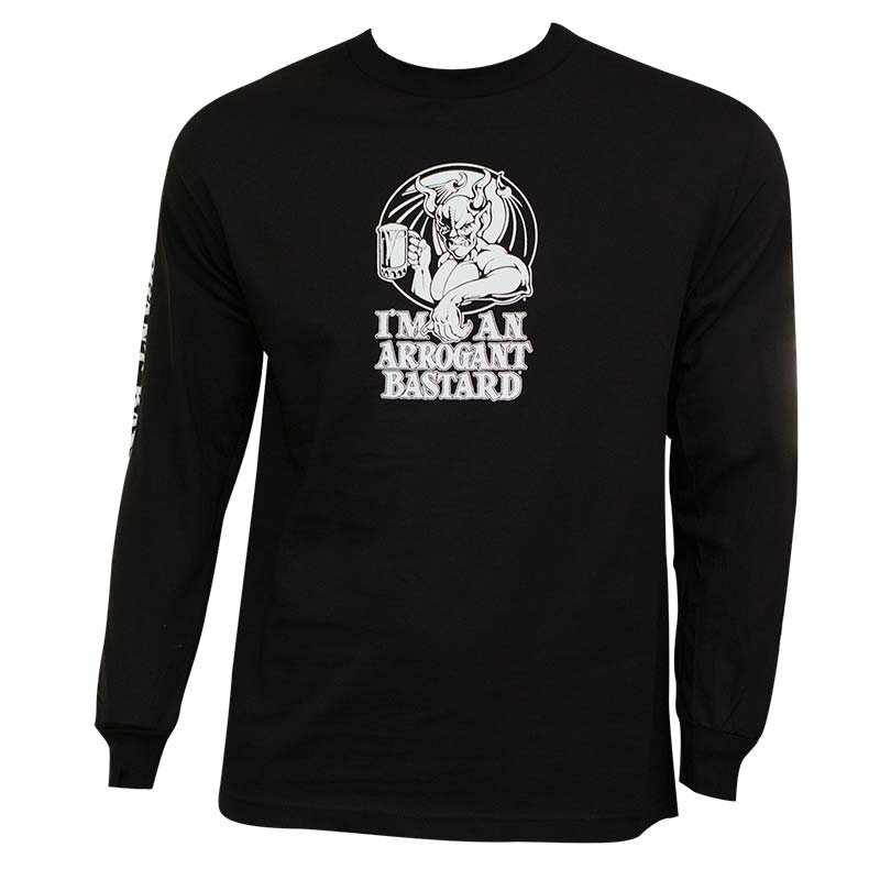 Arrogant Bastard Ale Long Sleeve Black Graphic TShirt