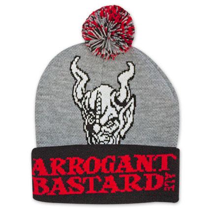 Red & Grey Arrogant Bastard Winter Beanie