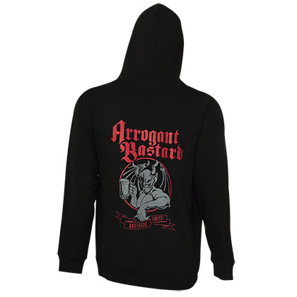 Arrogant Bastard Men's Black Bastards Unite Hoodie