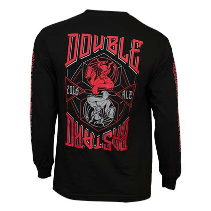 Arrogant Bastard Men's Black Long Sleeve Double Bastard T-Shirt