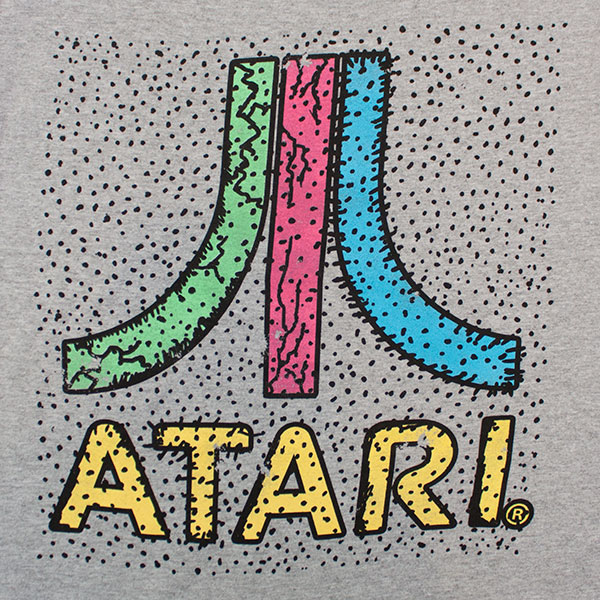 Atari Colorful Logo Tee - Gray