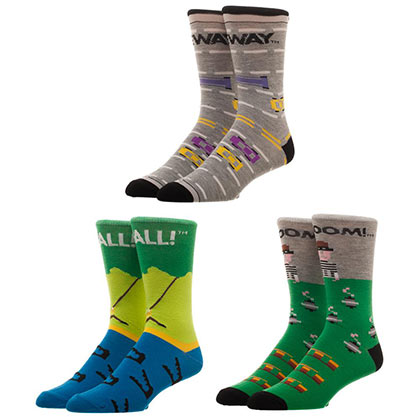Atari Activision Games 3 Pack Mens Crew Socks