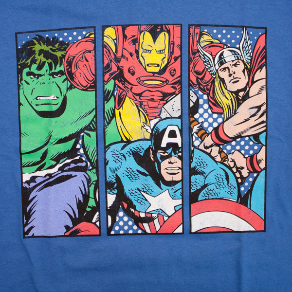 Avengers Four Characters Shirt  Blue