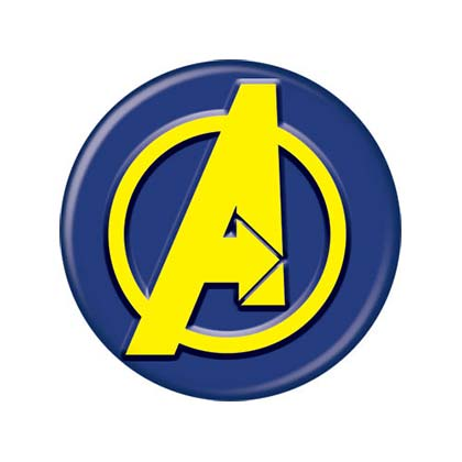Avengers Comic Button