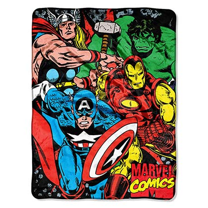Avengers We Fight We Assemble Super Plush Throw Blanket
