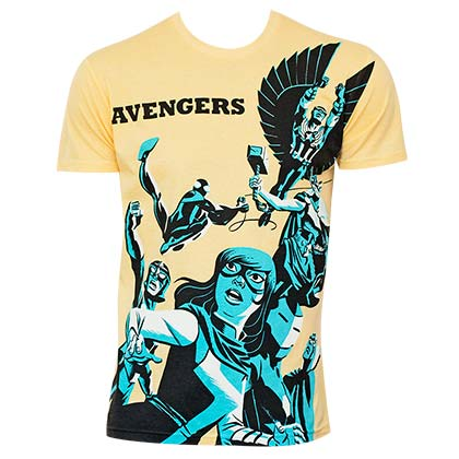 Men's Cotton Blend Avengers Michael Cho Art Tee Shirt