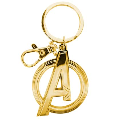 Avengers A Logo Gold Keychain